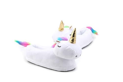 pantuflas de unicornio kawaii afelpadas unitalla