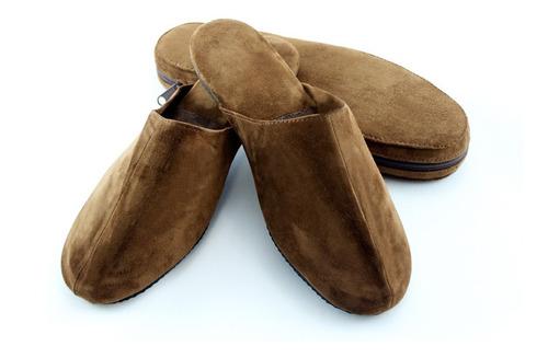 pantuflas gamuza con estuche (para regalo padre o viaje)