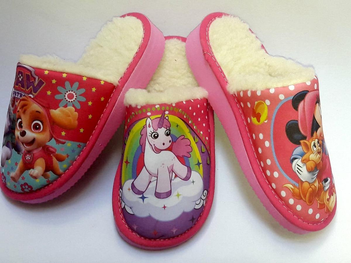 8faecd89 Pantuflas Infantiles Con Corderito Con Taco! - $ 72,90 en Mercado Libre