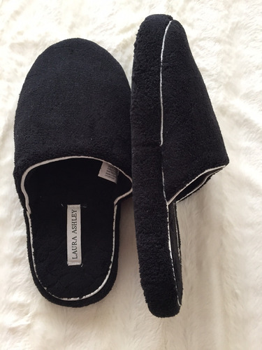 pantuflas laura ashley importadas usa - negro liso
