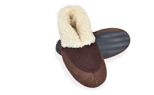 pantuflas mujer, bota térmica suave con felpa interior.
