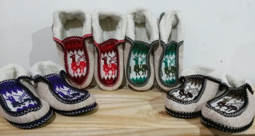 pantuflas norteñas para adultos (con corderito)