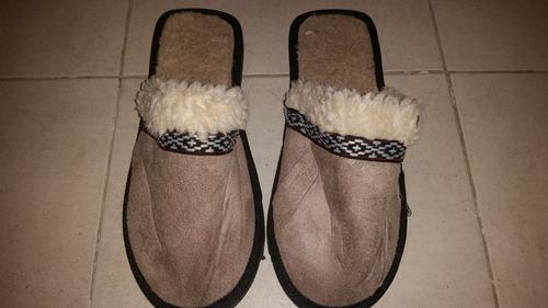 pantuflas para hombres de algodón con corderito