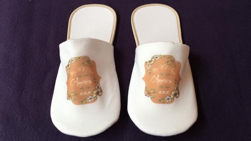 pantuflas personalizadas bodas, fiestas, xv años, económicas