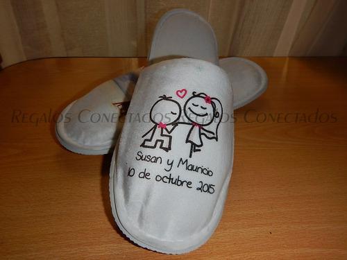 pantuflas personalizadas recuerdo matrimonio u otro evento