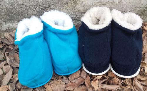 pantuflas polar adulto, talle 38/40 azul
