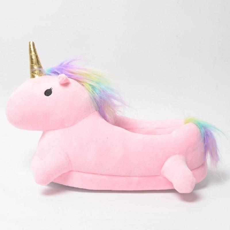 pantuflas rosadas exclusivas unicornio kawaii 14 990 en mercado