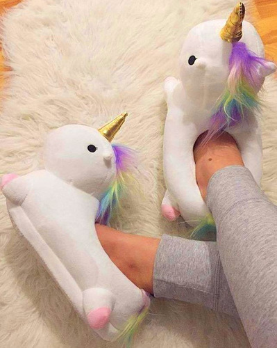 pantuflas unicornio con luces led