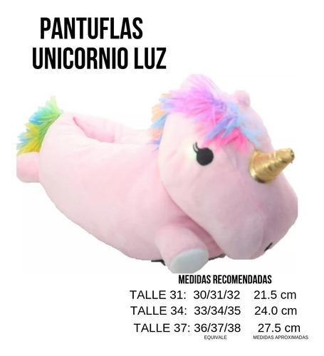 pantuflas unicornio luz mmk lunicor f