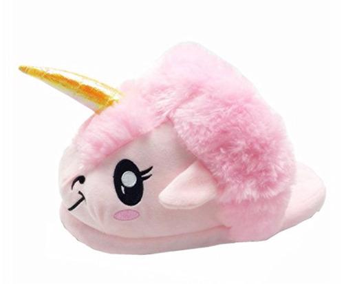 pantuflas unicornio rosa para niñas de 5 a 8 años