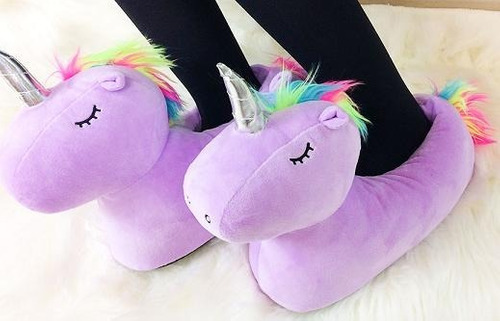 pantuflas unicornio talla m (34 - 37). 3 colores disponible.