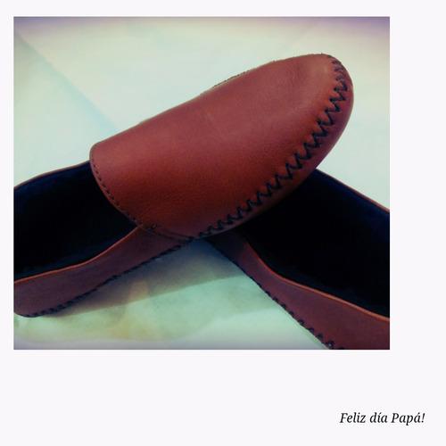 pantuflas/babuchas de cuero y lana al interior