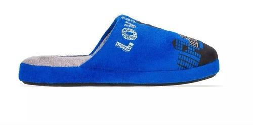 pantunflas clog azul para niño, marca andrea, envío gratis