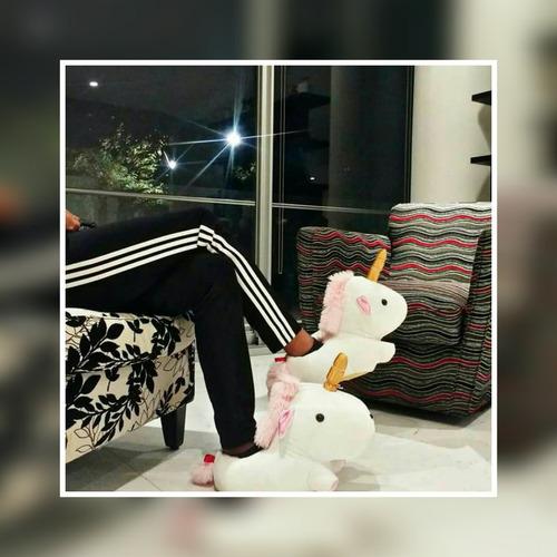 pantunflas unicornio luz leds