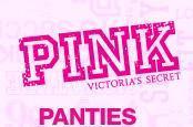 panty bikini mediano  rojo  perritos victorias secret pink