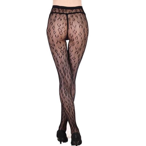 panty medias malla negro con diseño leopardo talla small