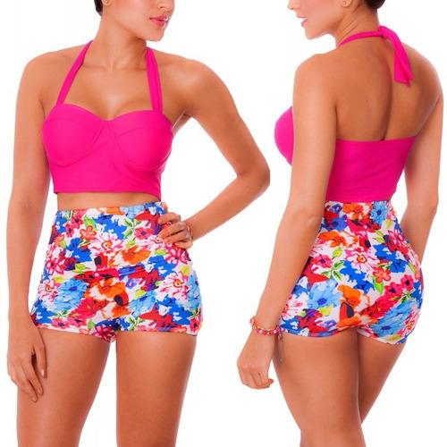 panty short vestidos de baño 1 pieza cachetero control 1104b