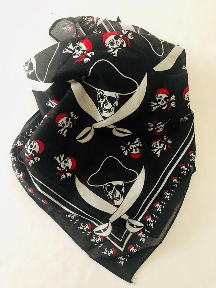 bandana calavera Skull Piratas pañuelo pañuelo de pirata