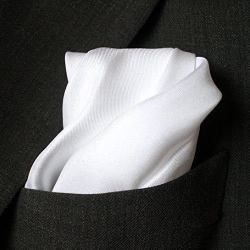 pañuelo de bolsillo blanco de seda fina fullsized 16x16