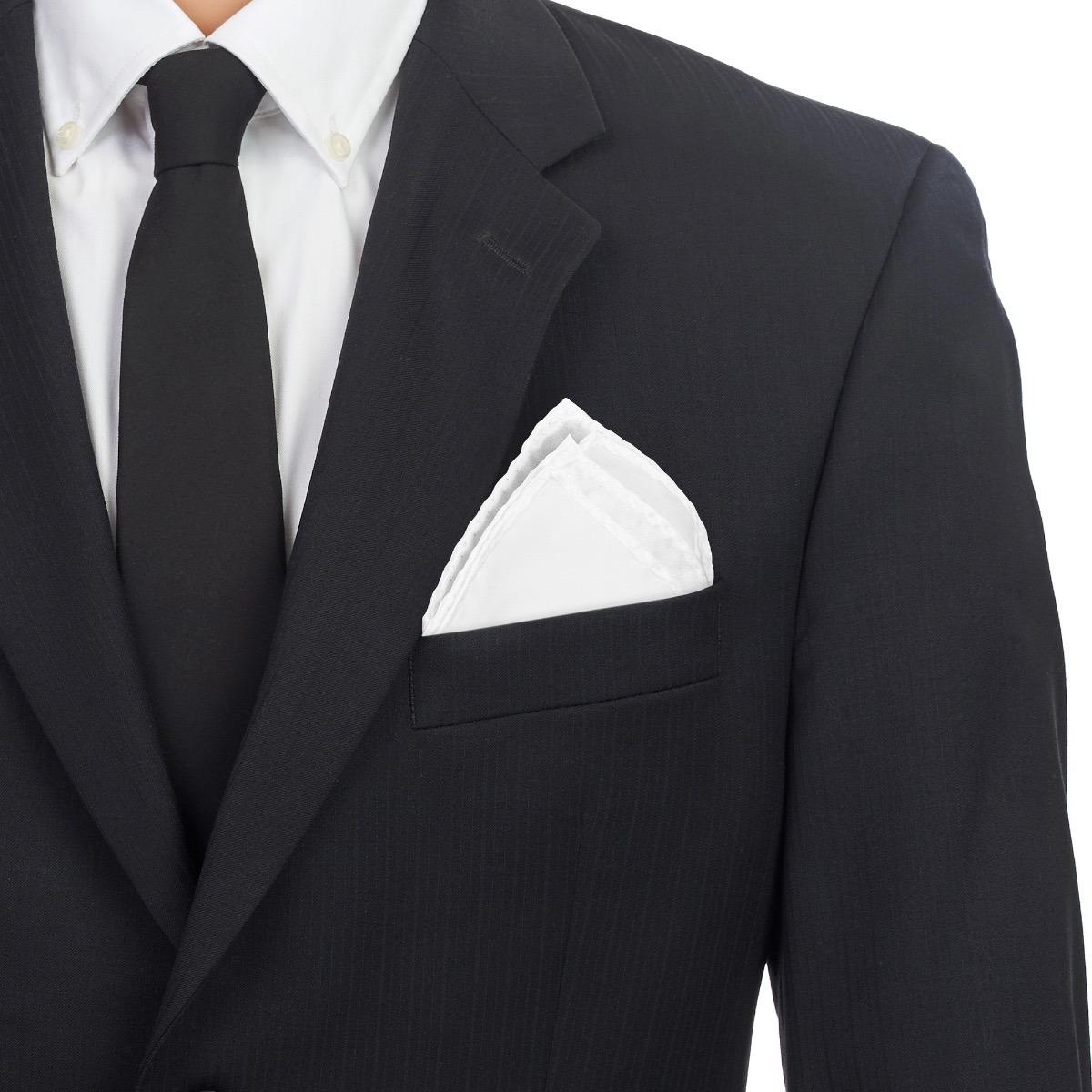 muy baratas imágenes detalladas apariencia elegante Pañuelo De Bolsillo Caballero Para Traje Blanco Poliéster