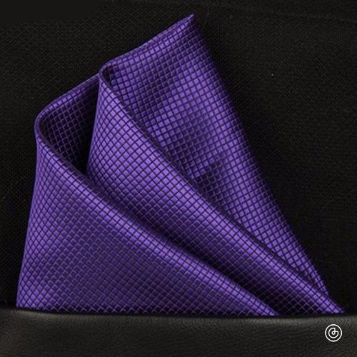 pañuelo de bolsillo para traje de hombre grin accs morado