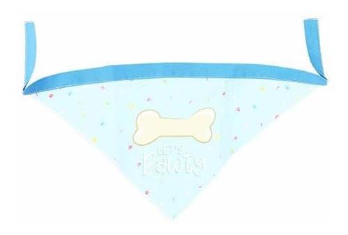 pañuelo de cumpleaños para perros, vamos pawty