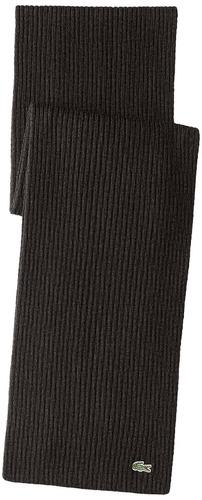 pañuelo de lana verde de cocodrilo de lacoste, gris oscuro j