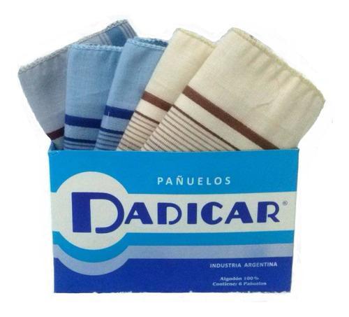 pañuelo de mano para hombre dadicar pack x6 unidades