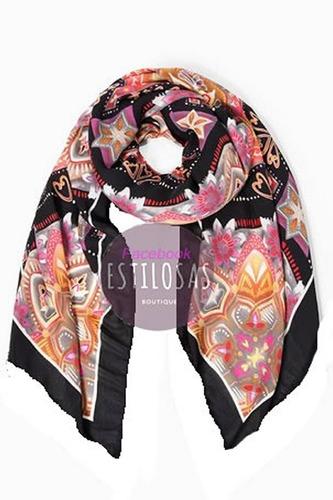 pañuelo desigual mod polaris square de seda! precioso