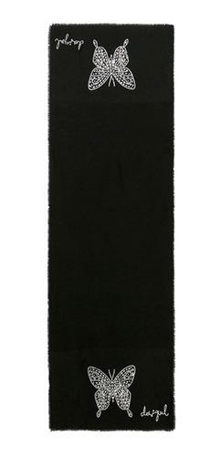 pañuelo desigual modelo mariposas brillates tipo bufanda