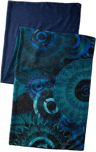 pañuelo desigual tonos azules modelo enrien
