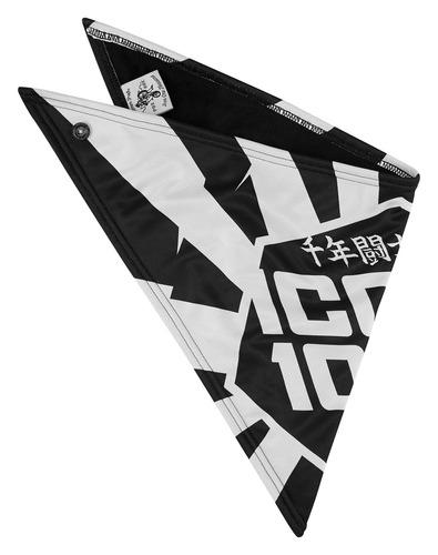pañuelo icon highway forma en v negro/blanco os