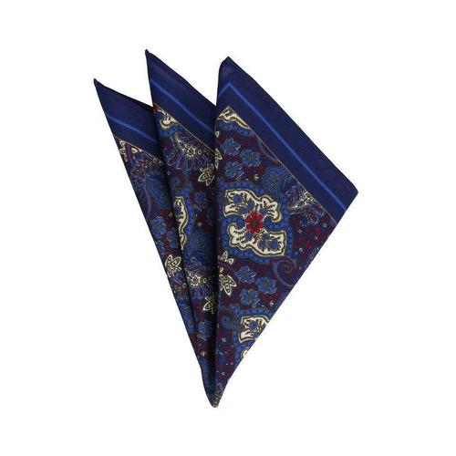 pañuelo royal flush azul con estampado tipo paliacate azul m