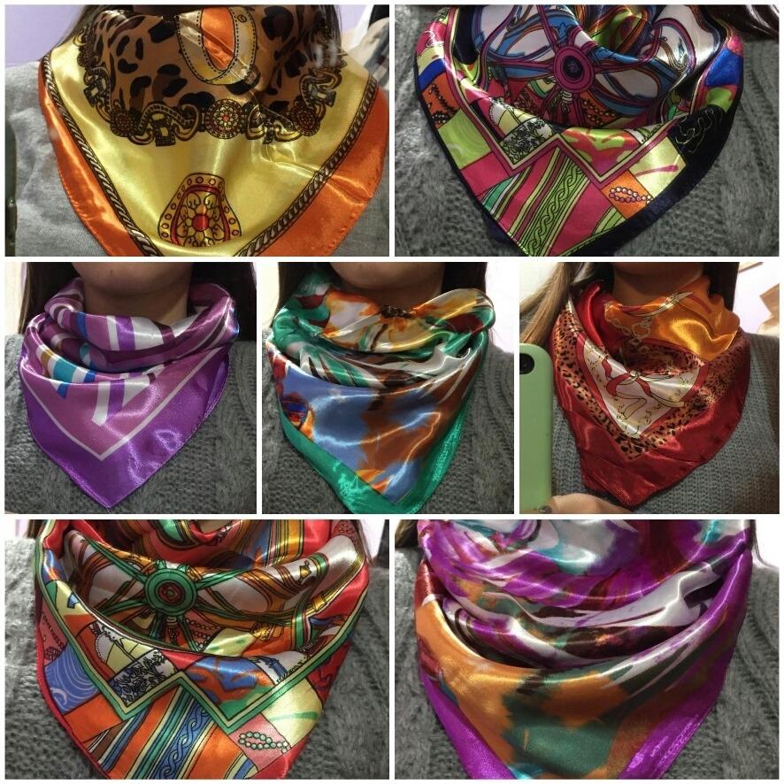 mejores ofertas en precios de liquidación Moda Pañuelo Seda Mujer Moda De 60 X 60 Por Mayor Pack Por 5