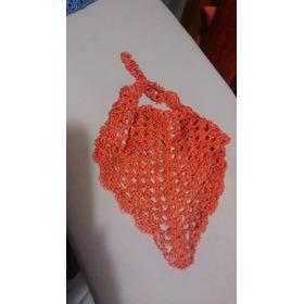 Pañuelo Triangular  Tejido De Seda A Crochet