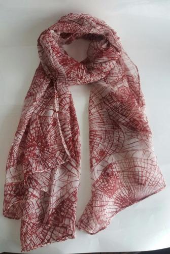 pañuelo zimbo rojo rectangular estampado mujer