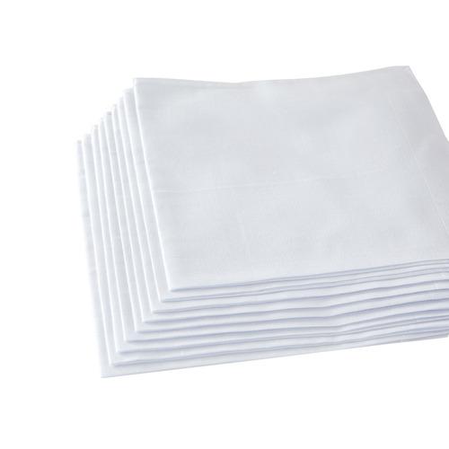 pañuelos blancos puros de algodón 12 piezas