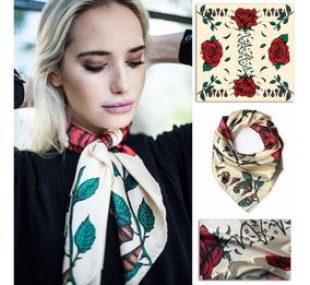 seleccione para auténtico compra genuina alta moda Pañuelos Cuello Mujer Seda Italiana Estampa Exclusiva 70x70