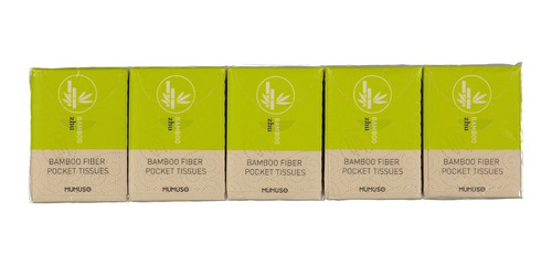 pañuelos de bolsillo mumuso fibra de bambú