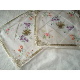 Pañuelos De Mano Para Dama Bordados De Algodón. Set X 6.