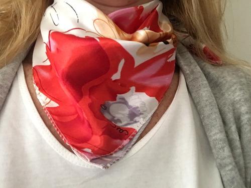 pañuelos de seda sintética