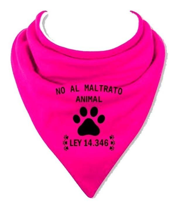 Pañuelos Somos Su Voz No Al Maltrato Animal X 1u De Cuello