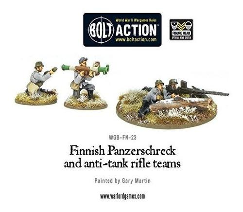 panzerschreck finlandes y rifle antitanque equipo miniaturas