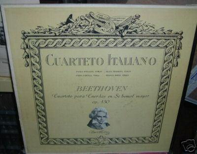 paolo borciani italian quartet beethoven vinilo argentino