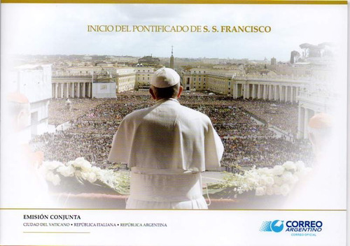 papa francisco emissões conjuntas argentina-vaticano: folder