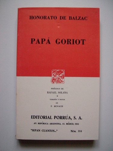 papá goriot - honorato de balzac - 1989