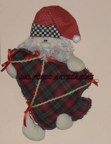 papa noel country  para puerta decoracion navidad