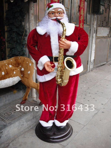 papa noel musical con movimiento navidad
