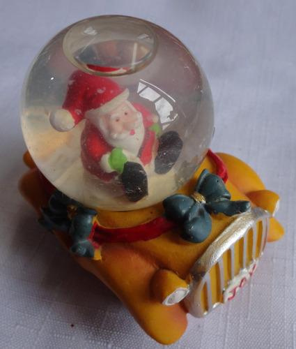 papai noel em resina - dentro de bolha de água -  a11