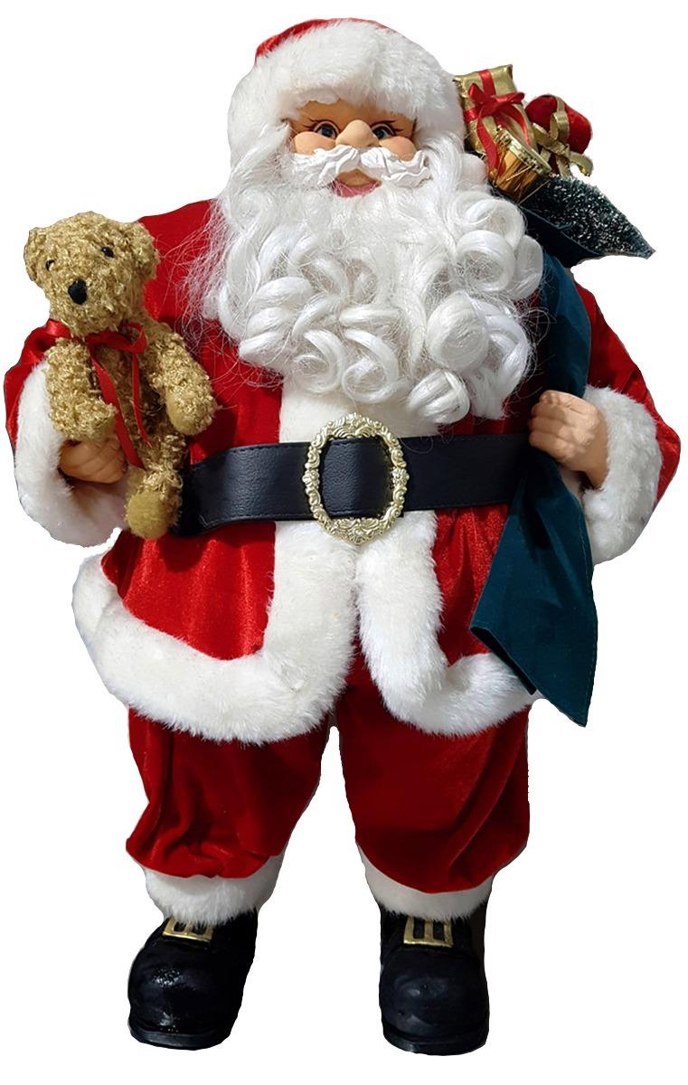 Papai Noel Grande Luxo Natal 64cm Decor Condomínio Edifício R 339